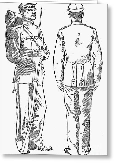 U.s. Army: Fatigues, 1882 Greeting Card by Granger