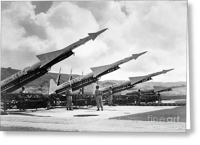 U.s. Army Missiles, C1965 Greeting Card by Granger