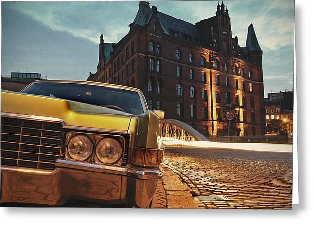 Us Car Greeting Card by Nina Papiorek