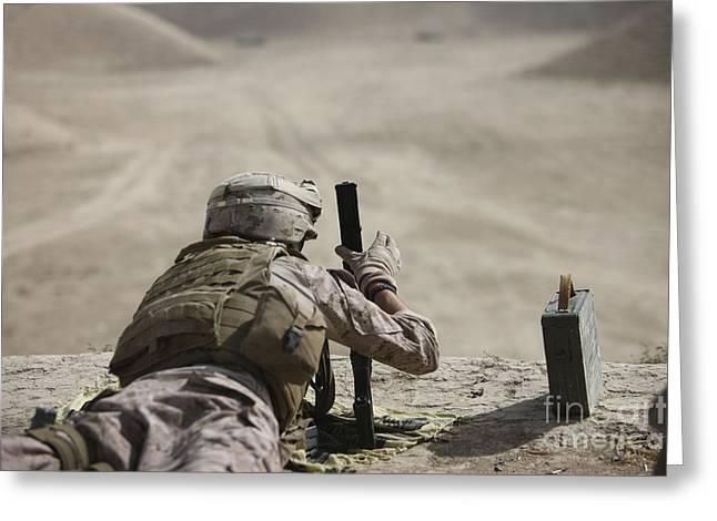 U.s. Marine Clears A Pk General-purpose Greeting Card