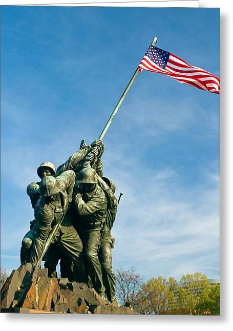 U.s Marine Corps Memorial Greeting Card by Dan Wells