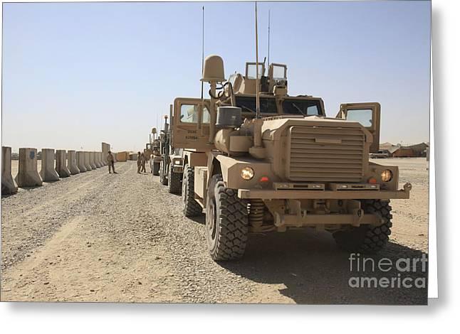 U.s. Marine Corps Mine Resistant Ambush Greeting Card by Stocktrek Images