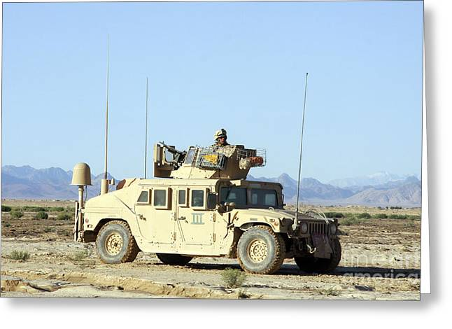 U.s. Marine Standing Ready Greeting Card by Stocktrek Images