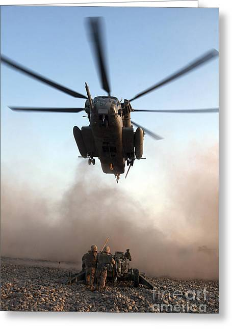 U.s. Marines Preparing To Attach An Greeting Card by Stocktrek Images