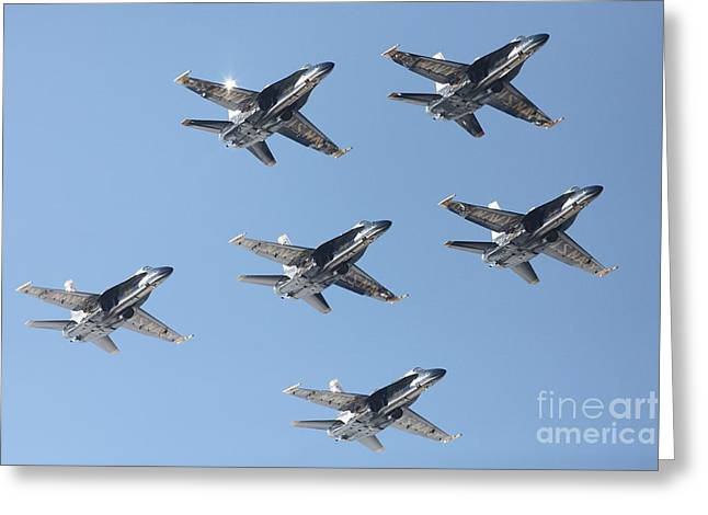 Us Navy Blue Angels - 5d18961 Greeting Card