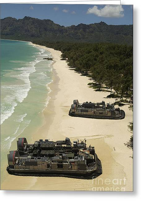 U.s. Navy Landing Craft Land Greeting Card by Stocktrek Images