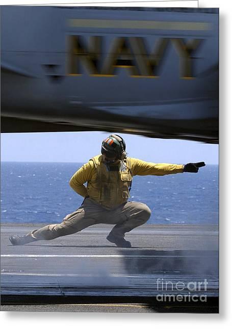 U.s. Navy Lieutenant Launches An Fa-18 Greeting Card