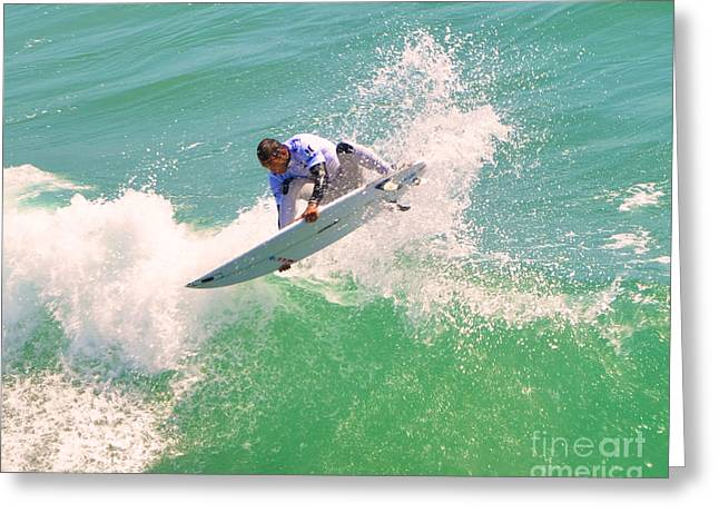 Us Open Of Surfing 2012       12 Greeting Card by Jason Waugh