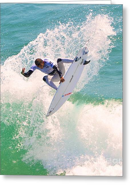 Us Open Of Surfing 2012      10 Greeting Card by Jason Waugh