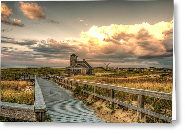 U.s. Rescue Station At Race Point Cap Cod Greeting Card by Linda Pulvermacher