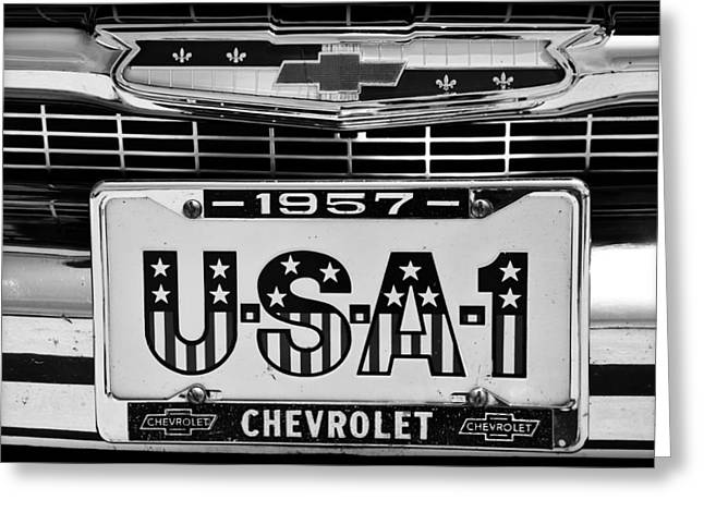 Usa 1 Black And White Greeting Card