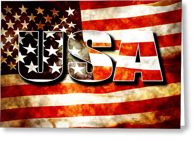 Usa Old Glory Flag Greeting Card by Phill Petrovic