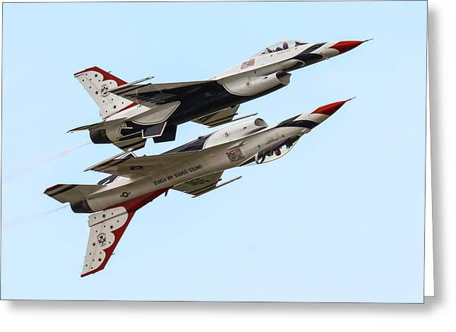 Usaf Thunderbirds Display Pair Greeting Card by Ken Brannen