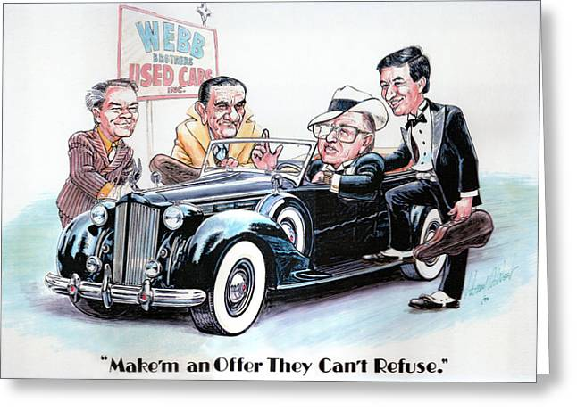 Used Car Salesmen Greeting Card by Harry West
