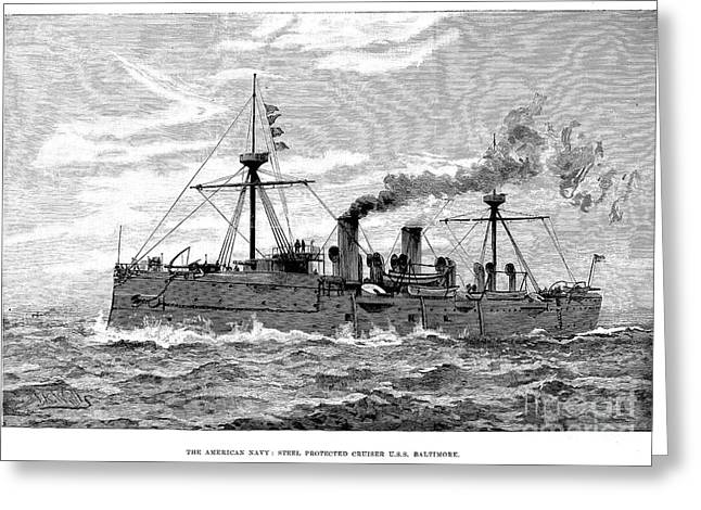 Uss Baltimore, 1890 Greeting Card by Granger