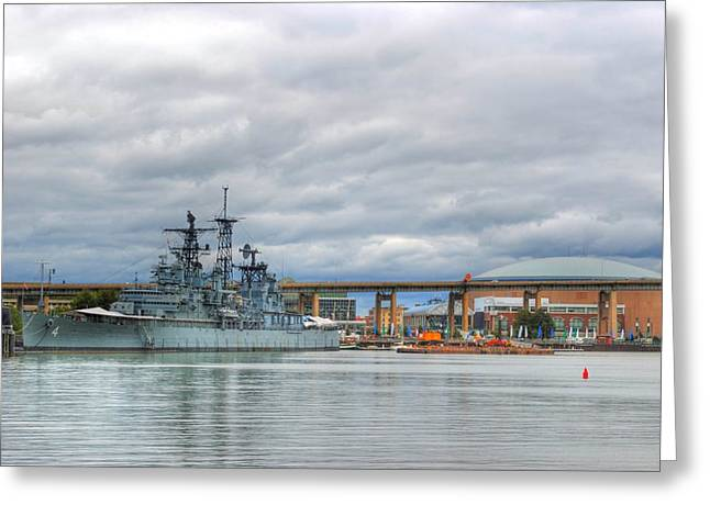 Greeting Card featuring the photograph Uss Little Rock by Michael Frank Jr