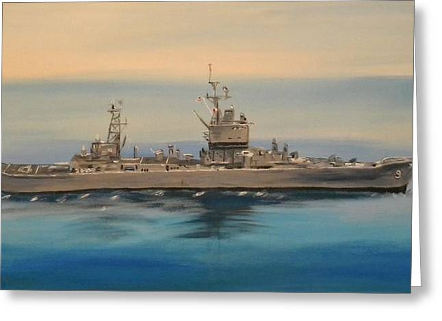 Uss Long Beach Greeting Card
