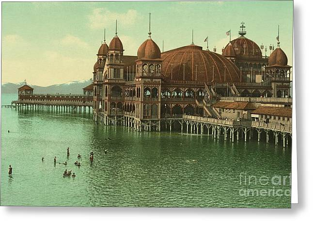 Utah Saltair Pavilion On The Great Salt Lake Greeting Card