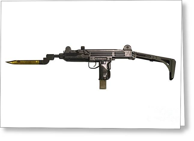 Uzi 9mm Submachine Gun With Attached Greeting Card