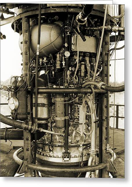 V-2 Rocket Engine Greeting Card by Detlev Van Ravenswaay