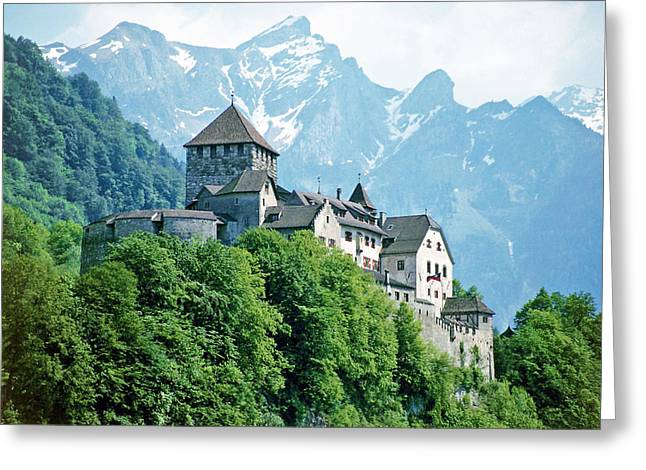 Vaduz Castle Lichtenstein Greeting Card by Joseph Hendrix