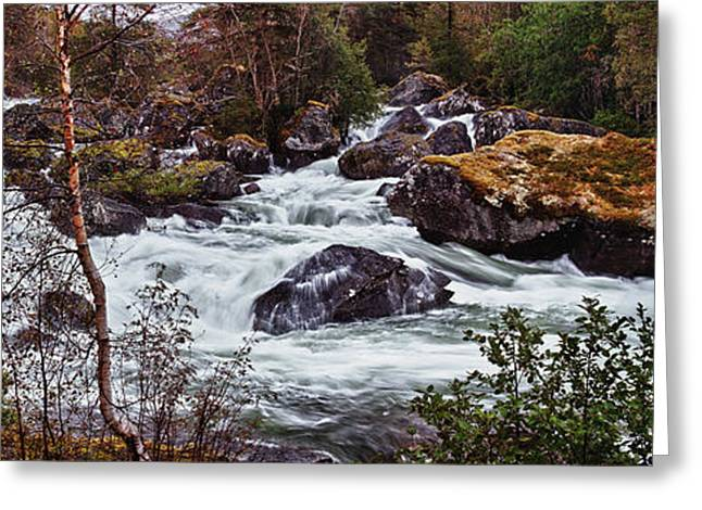 Valdolla River Greeting Card by A A