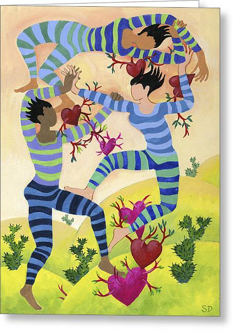 Valentine Dancers Greeting Card