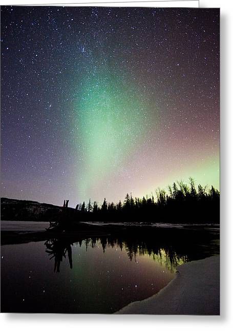 Valentines Aurora Greeting Card by Brandon Broderick