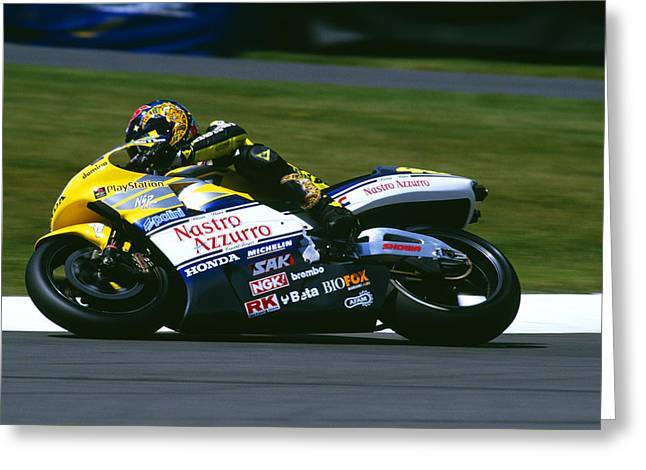 Valentino Rossi Greeting Card by Don Hooper