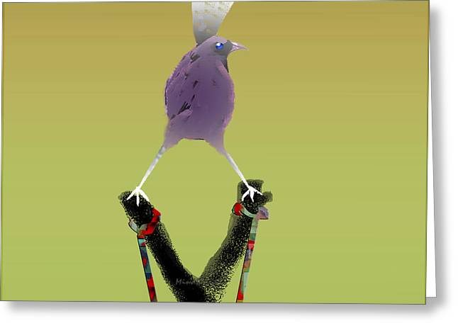 Valiant Bird Greeting Card