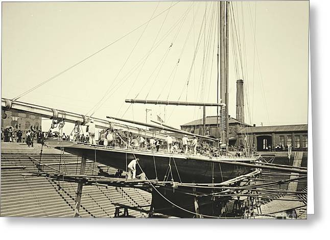 Valkyrie IIi In Erie Basin 1895 Greeting Card by Padre Art