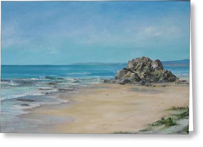 Valla Beach Greeting Card by Rita Palm