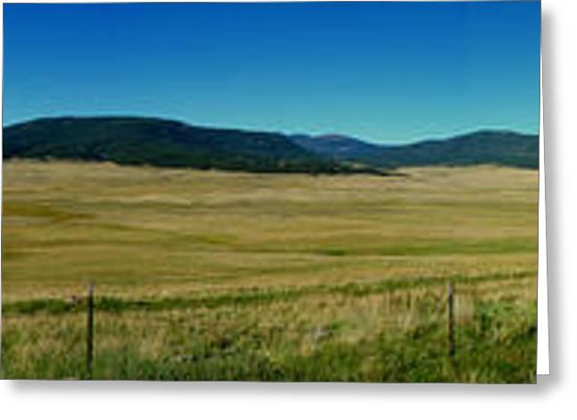 Valles Caldera Summer Panoramic Greeting Card by Aaron Burrows