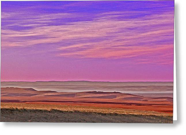 Valley Glow Greeting Card by Jim Justinick