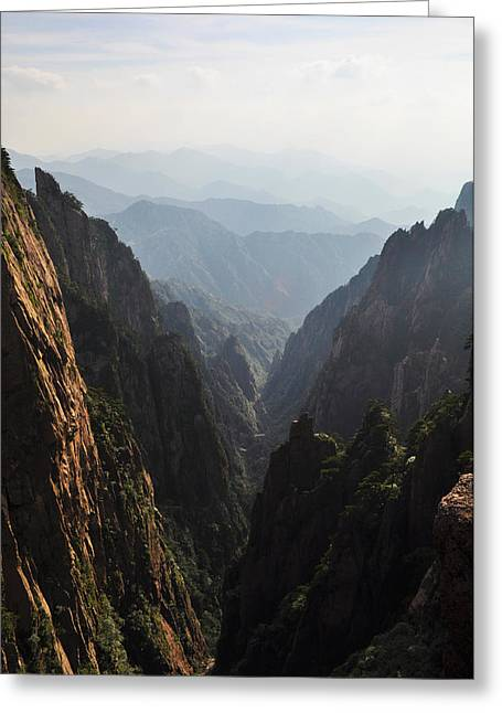Valley In Huangshan Greeting Card