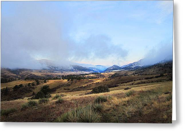 Valley Mist Greeting Card by Ric Soulen