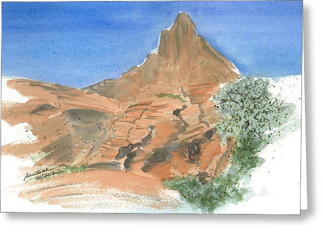 Valley Of Fire - Sketch II Greeting Card