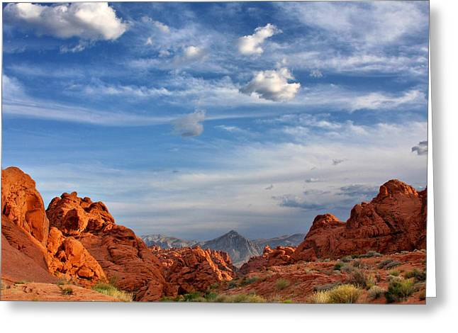 Valley Of Fire Nevada - A Must-see For Desert Lovers Greeting Card by Christine Till
