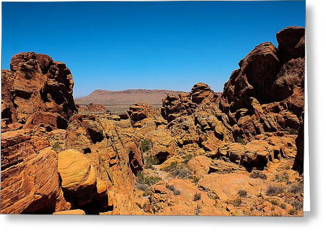 Valley Of Fire Greeting Card by Ryan Baxter