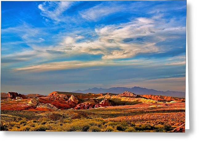 Greeting Card featuring the photograph Valley Of Fire Sunset by Joe Urbz