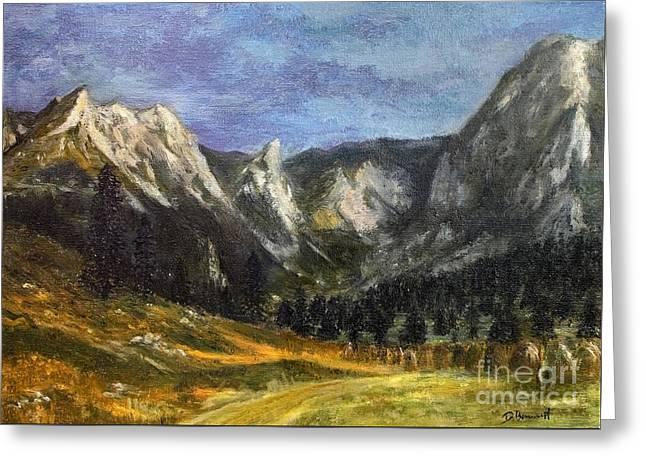 Valley Of Little Meadow Greeting Card by Danuta Bennett