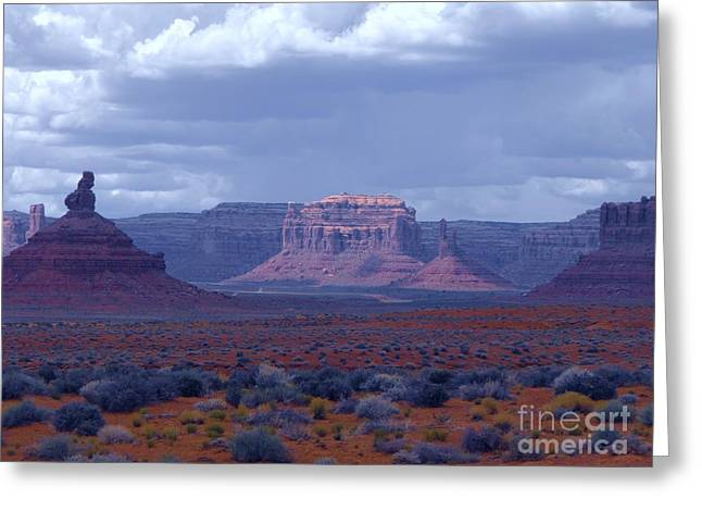 Valley Of The Gods Greeting Card by Annie Gibbons