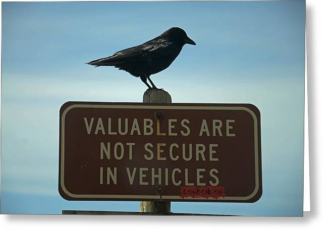 Valuables Are Not Secure Greeting Card