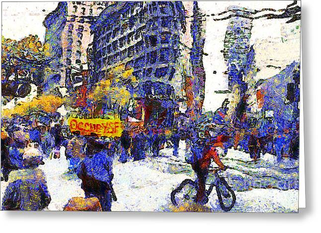 Van Gogh Occupies San Francisco . 7d9733 Greeting Card by Wingsdomain Art and Photography