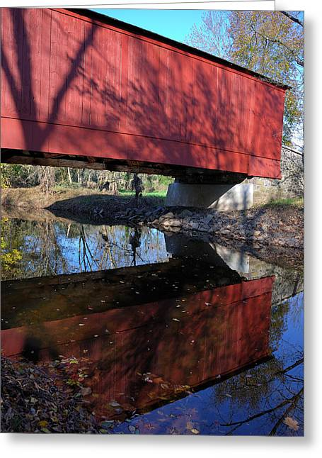 Greeting Card featuring the photograph Van Sant Covered Bridge by Steven Richman