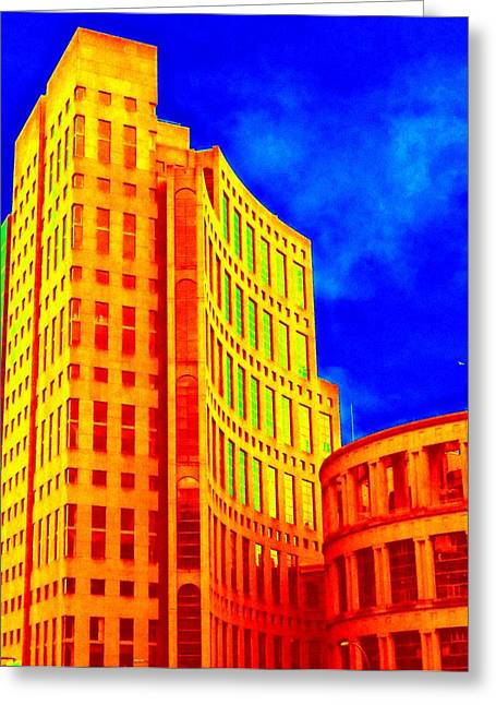 Vancouver Library 4 Greeting Card by Randall Weidner