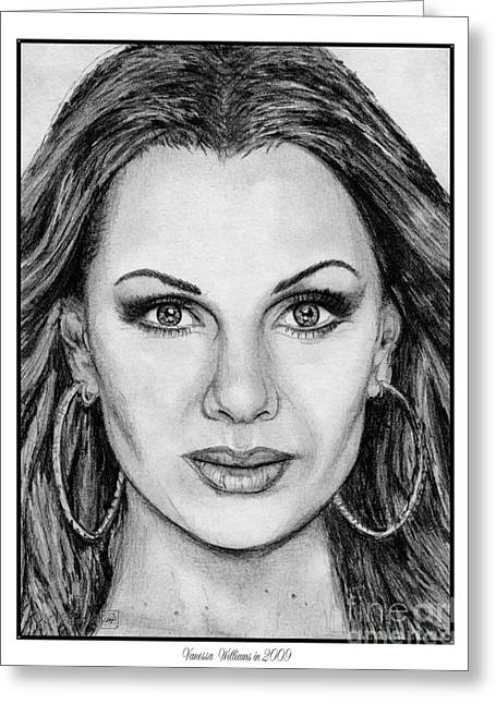 Vanessa Williams In 2009 Greeting Card by J McCombie