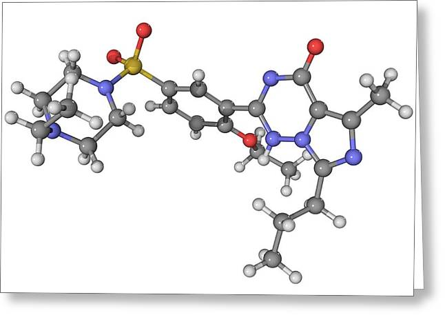 Vardenafil Erectile Dysfunction Drug Greeting Card by Laguna Design