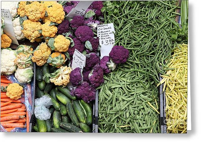 Variety Of Fresh Vegetables - 5d17900-long Greeting Card by Wingsdomain Art and Photography