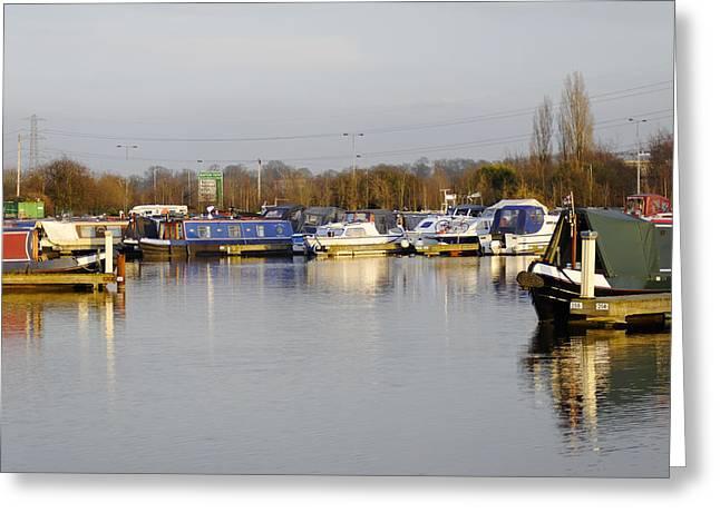 Various Boats At Barton Marina Greeting Card by Rod Johnson
